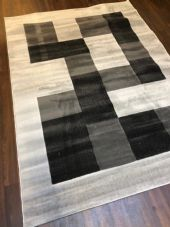 NEW MODERN BLOCK DESIGN RUGS GREY 150X210CM 7X5FT APPROX GREAT QUALITY MATS